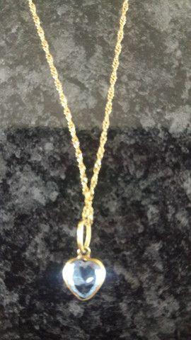 Corrente com pingente de ouro 18k - Foto 2