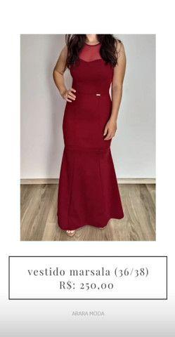 Vestido de festa marsala (36/38) - temos outros modelos disponíveis