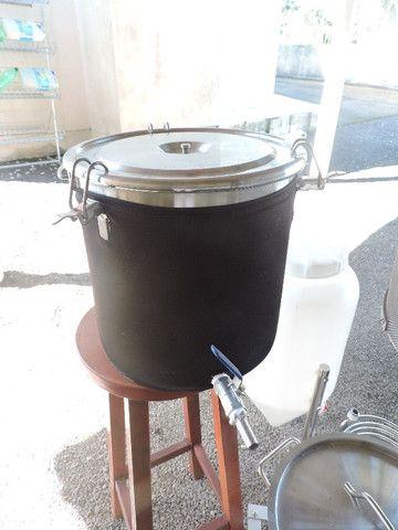 Kit fabricação cerveja artesanal, elétrico, todo em inox, para 20l (Criciúma-SC) - Foto 5