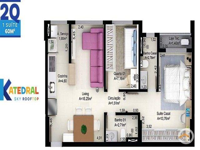 Apartamento à venda com 2 dormitórios em Setor central, Goiânia cod:5369 - Foto 2