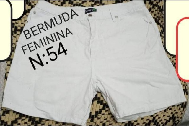 Bermuda feminina tamanho 54