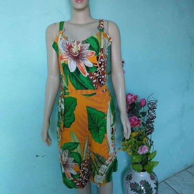 Macacão pantalona Feminino floral
