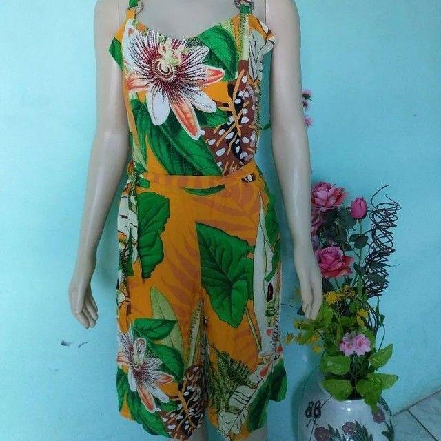 Macacão pantalona Feminino floral - Foto 4