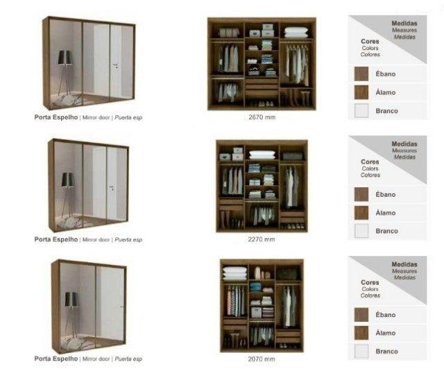 Conforto neste Dormitório Completo (Roupeiro/Canto/Complementos), R$12.893,61! - Foto 5