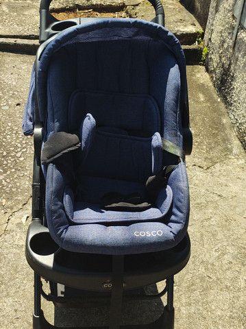 Carrinho bebê conforto completo marca cosco - Foto 3