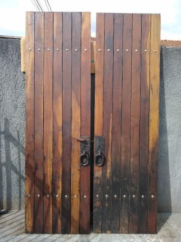 Porta dupla imbuia maciça 1,40 x 2,35 - Foto 6