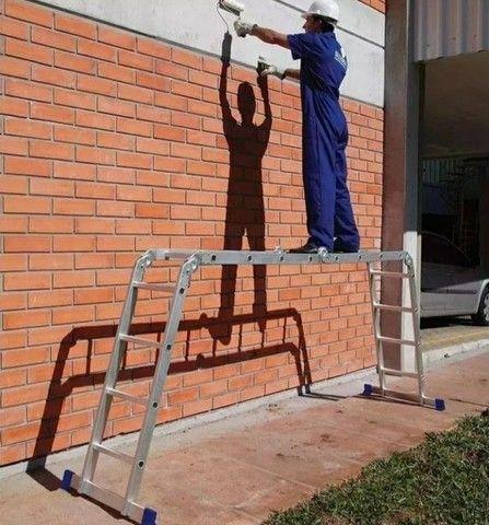 ESCADA ARTICULADA PROFISSIONAL 4x4 MULTIFUNCIONAL - ENTREGA GRÁTIS <br><br> - Foto 4