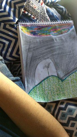 Quadro / desenho  Flor solitária - Foto 3