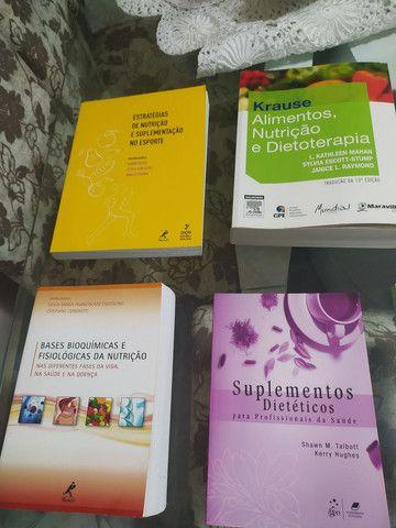 Livros de nutrição, vendo individual também