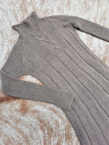 Vestido manga longa de tricot - Foto 3