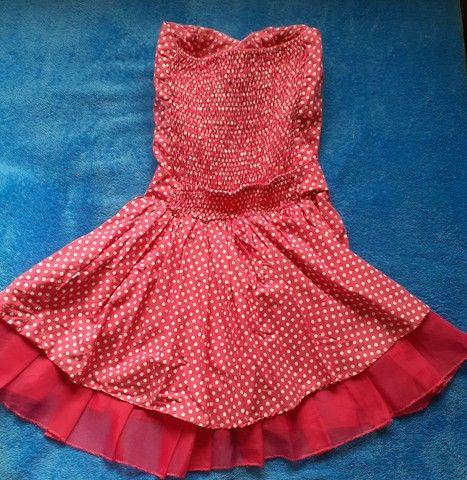 Vestido Rosa de Bolinhas  - Foto 2