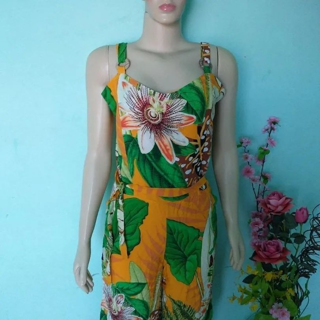 Macacão pantalona Feminino floral - Foto 3