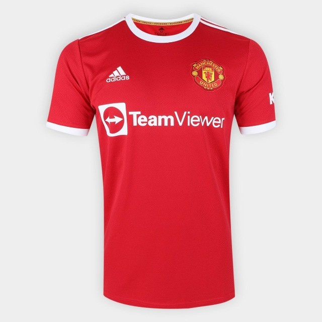 Camisa Manchester United Home 21/22 s/n° Torcedor Adidas Masculina - Vermelho