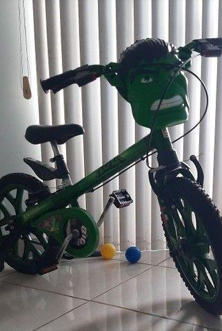 Bicicleta Infantil Do Hulk - Foto 4