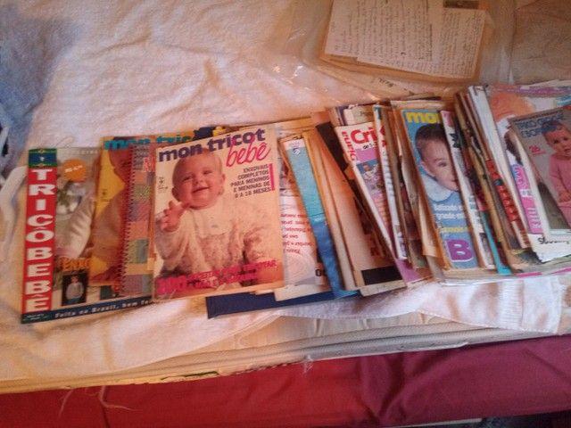 Coleção de revistas de tricô