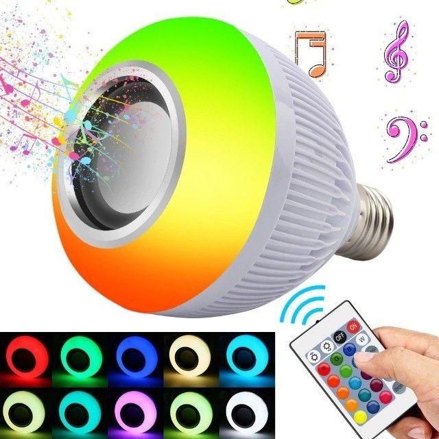 Lampada Caixa De Som Bluetooth Com Controle Remoto - Foto 4