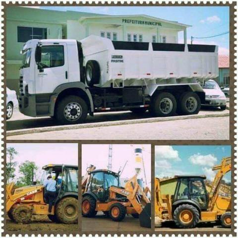 Aluguel retro escavadeira/ caminhão