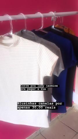 Blusas caneladas