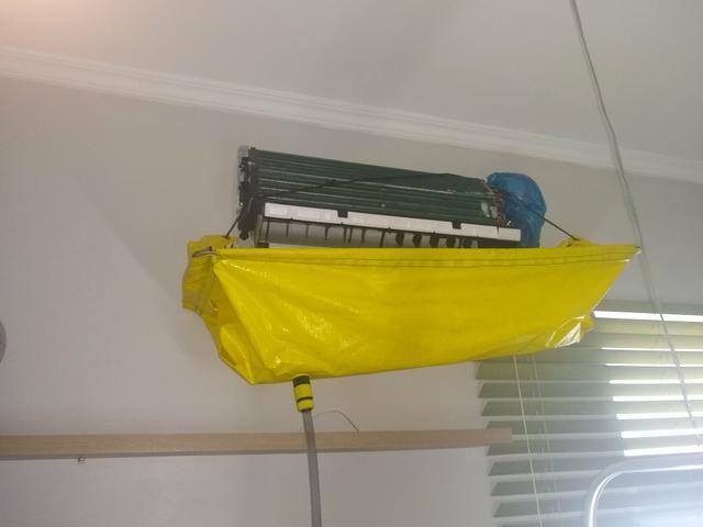 Higienização e manutenção em ar condicionado