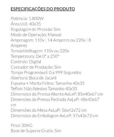 Prensa térmica de estampar 40x35 - Foto 6