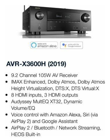 Receiver Denon AVR3600H melhor preço São Paulo retira na loja - Foto 4