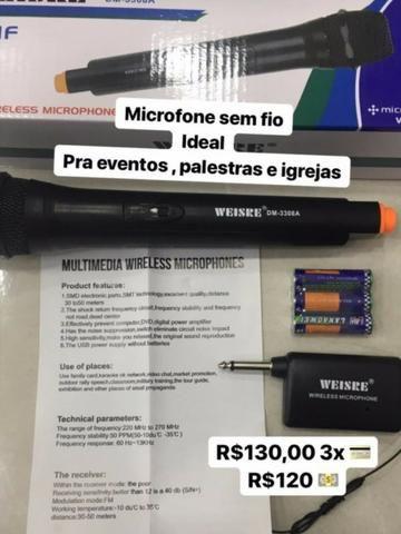 Microfone Sem Fio Weisre Dm - 3308a Vhf - Foto 3