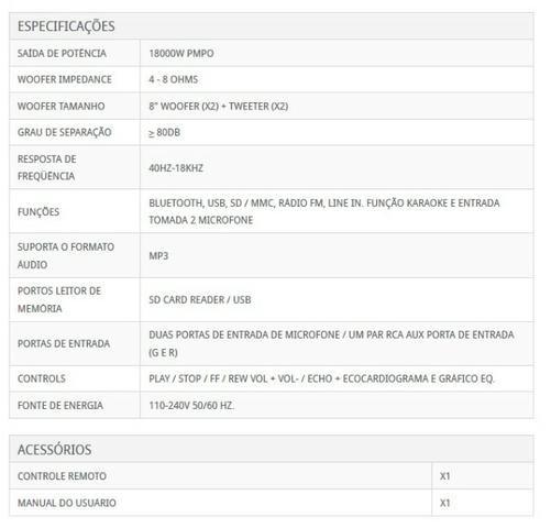 Caixa de Som North Tech Modelo PX 180 - Foto 3