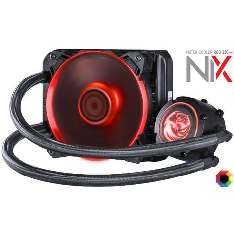 Water Cooler Pcyes Nix 120mm Mangueiras De Nylon E Led Rgb