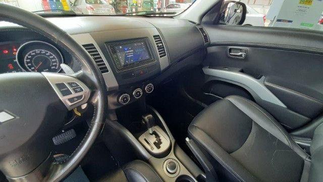 Mitsubishi Outlander 3.0 4X4 GT V6 2012 Prata Completíssima, Excelente Estado - Foto 12