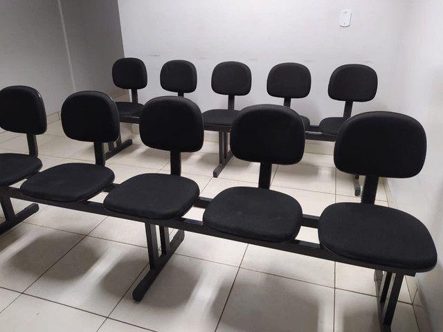 Cadeiras longarinas usada 3, 4 e 5 lugares