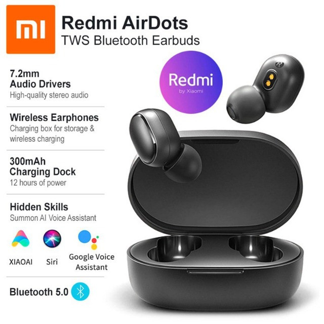 Fone De Ouvido sem fio Bluetooth Xiaomi Redmi Airdots - Primeira Linha - Foto 2