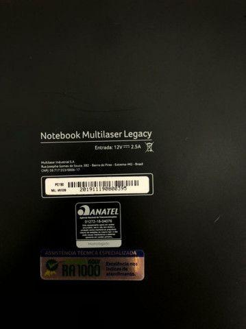 Notebook Multilaser intel Quad-core 4gb <br>64+64gb Ssd wind. 10  - Foto 4