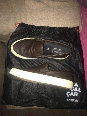 Tênis de sapato da reserva couro legítimo  - Foto 2