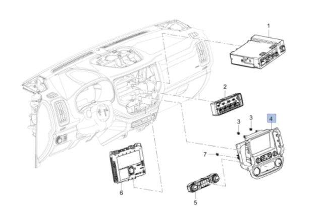 Central Multimídia GM S10/Trailblazer -  Com Controles do A/C - Foto 2