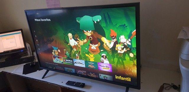 TV 43 smart wafi vai com Netflix  aberto  - Foto 2