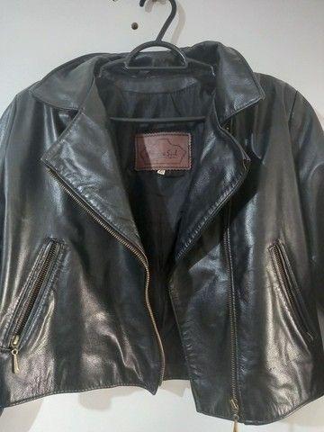 Jaqueta de couro legítimo feminina - Foto 3