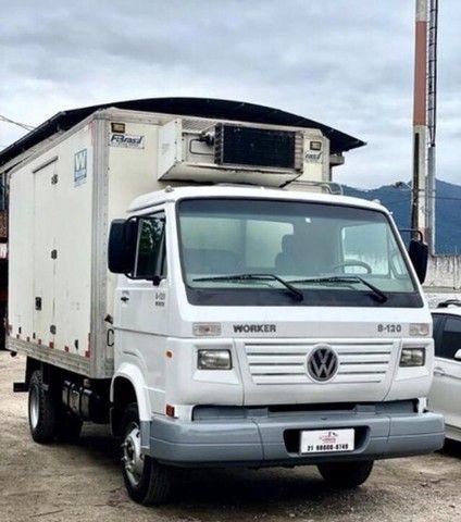 RI- caminhão volkswagen vw 8120 baú frigorifico 2017 - Foto 3