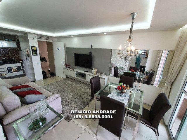 Apartamento bem localizado, todo projetado, nascente e com lazer completo! - Foto 4