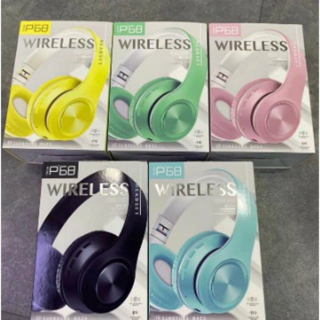 Fone Headphone Bluetooth Dobrável Entrada Sd/p2 Lançamento - P68<br>