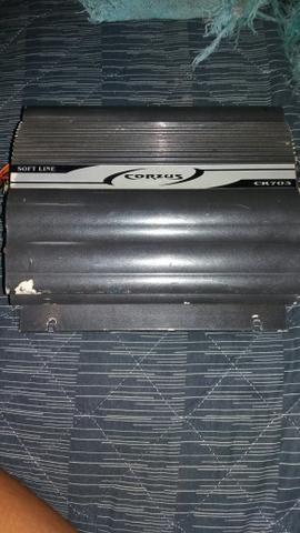 Modulo Amplificador Corzus Cr703 3canais Mono Stereo 280wrms
