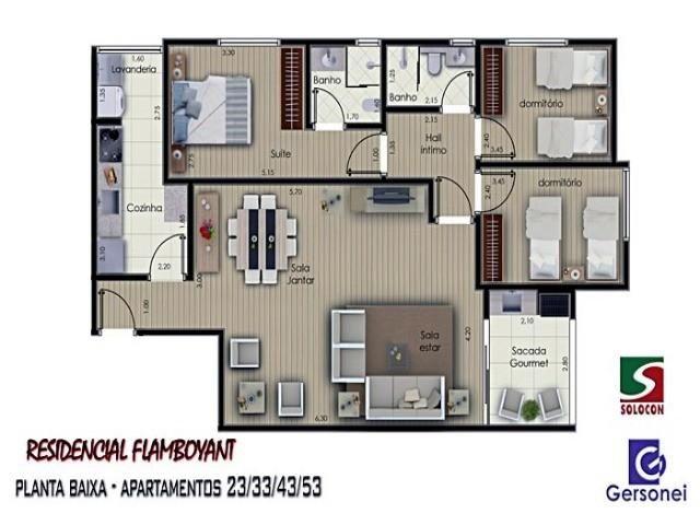 Apartamento à venda com 03 dormitórios em Nucleo agricola alpha, Franca cod:4604 - Foto 2