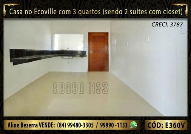 Casa no Ecoville com 3 quartos sendo 2 suítes com closet, e área gourmet - Foto 5