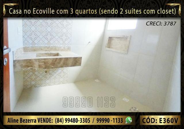 Casa no Ecoville com 3 quartos sendo 2 suítes com closet, e área gourmet - Foto 10