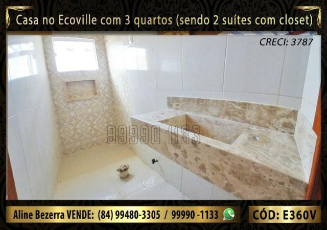 Casa no Ecoville com 3 quartos sendo 2 suítes com closet, e área gourmet - Foto 6