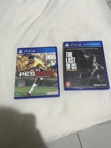 Jogos de PS4 : PES 2018 e The Last Of Us