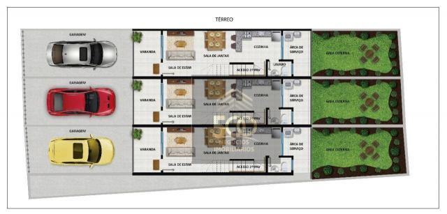 Sobrado com 2 dormitórios à venda, 64 m² por r$ 180.000,00 - potecas - são josé/sc - Foto 2