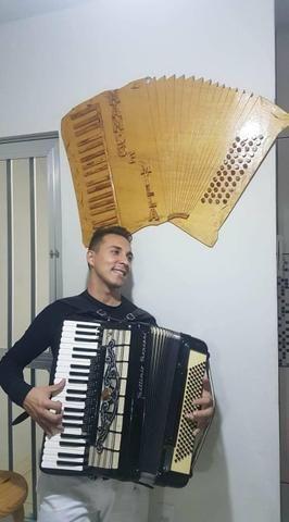 Aula de música com Fernando Henrique diversos istrumentos como o acordeon - Foto 3