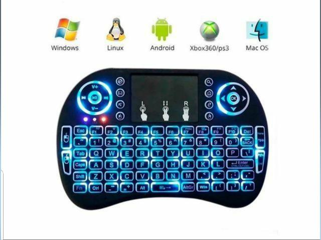 Teclado Sem Fio Para TV Smart Video Game,Pc e Notebook - Foto 2