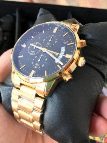 Relógio Masculino Nibosi Original Luxo Vidro Safira Anti-risco Lindo - Foto 3