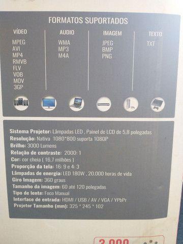 Projetor Datashow 3000 Lumens Home Cinema Tomate Mpr-2002 3000 lumens - Foto 6